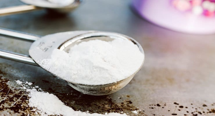 Deodorizing using baking powder instead of baking soda up vote 4 down vote favorite I am an engineer and I understand the difference between baking power and baking soda as baking powder is baking soda (alkali) with tartaric acid (acidic) and an inert starch (why?