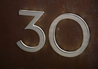 """Modern 8"""" Neutra House Numbers LED Backlit Luxello"""