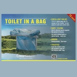 Toilet-In-A-Bag (15 pack) camping toilet