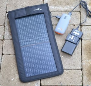 solar camera charger using kickr 2, prime 4400, vario