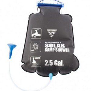 solar heated camp shower 10l 2gal