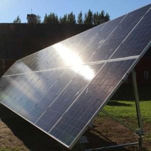 2 tier ground mount solar
