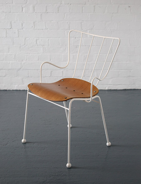 metal frame chairs zebra desk chair ernest race antelope | modern room - 20th century design