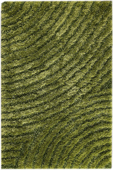 MAT Orange Tweed Green Rug From The Shag Rugs Collection