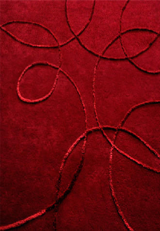 Mat Red Hilo Wool Rug 5 from the Textured Rugs collection at Modern Area Rugs