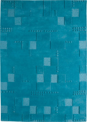 Mat Blue Hilo Solid Color Rug from the Textured Rugs