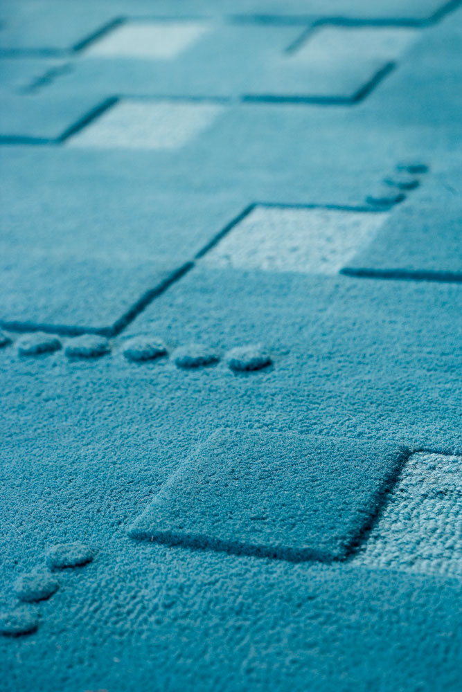 Miami Turquoise Rug from the Pangea Textured Rugs