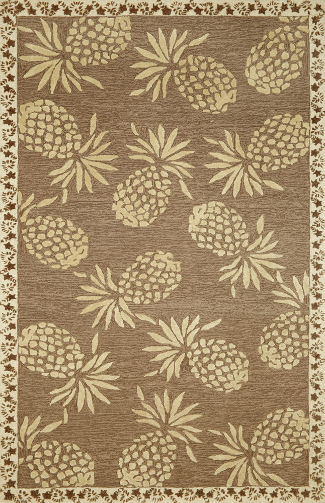 Cargo Pineapple Neutral Rug from the Outdoor Rugs