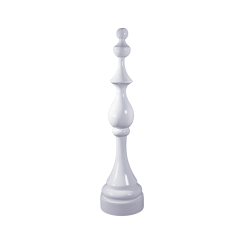 accessories check mate white sculpture