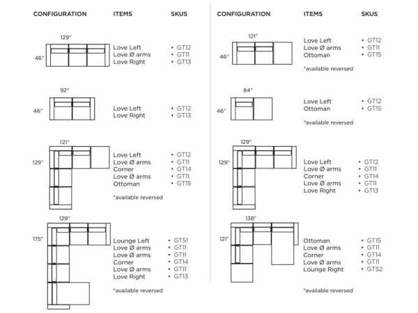 gault sectional options