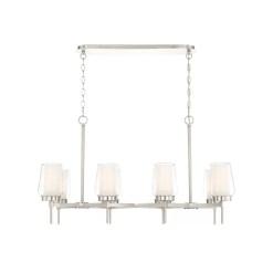 lighting manchester 38-inch chandelier satin nickel