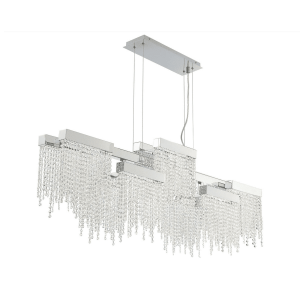 lighting rossi rectangular chandelier