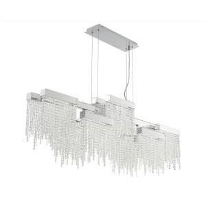 lighting rossi rectangular chandelier