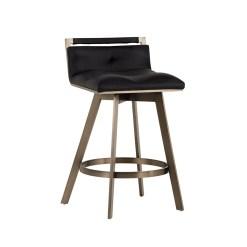 loreto counter stool in black leatherette