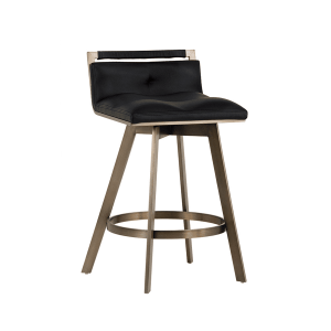loreto counter stool in black leatherette