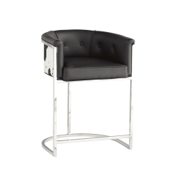 calvin counter stool black and white hide