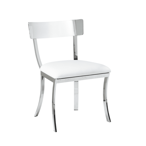dining room maiden chair in white