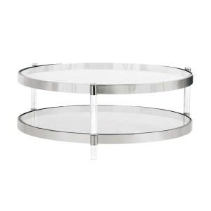 living room york coffee table in stainless steel