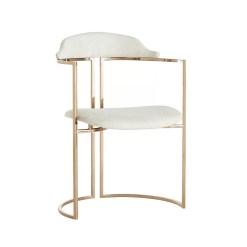 zephyr chair white hide