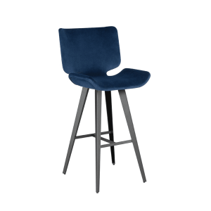 astra bar stool petrol velour