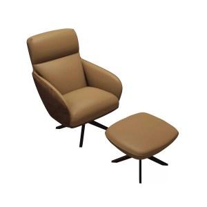 christie lounge chair and ottoman safari