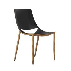 dining room sloane chair black and teak