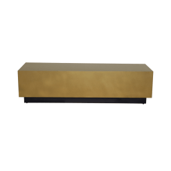 living room asher coffee table gold