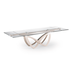 dining room milana table glass
