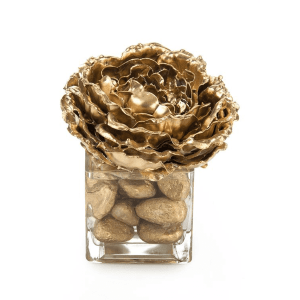 accessories golden peony botanical