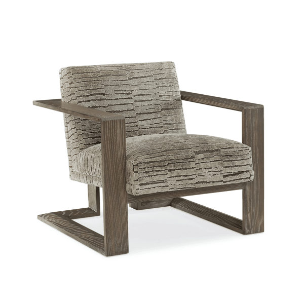 elements accent chair with wood base