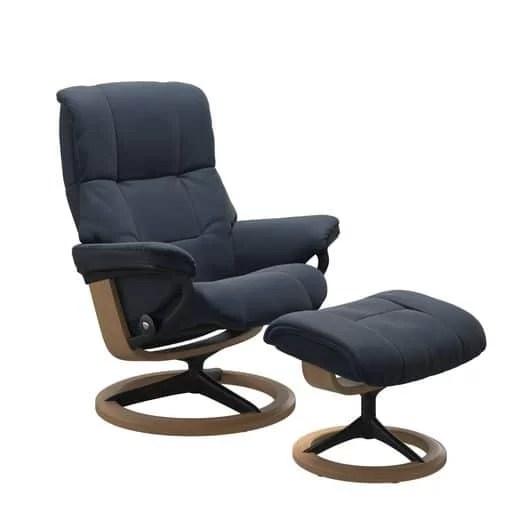 stressless recliner blue paloma