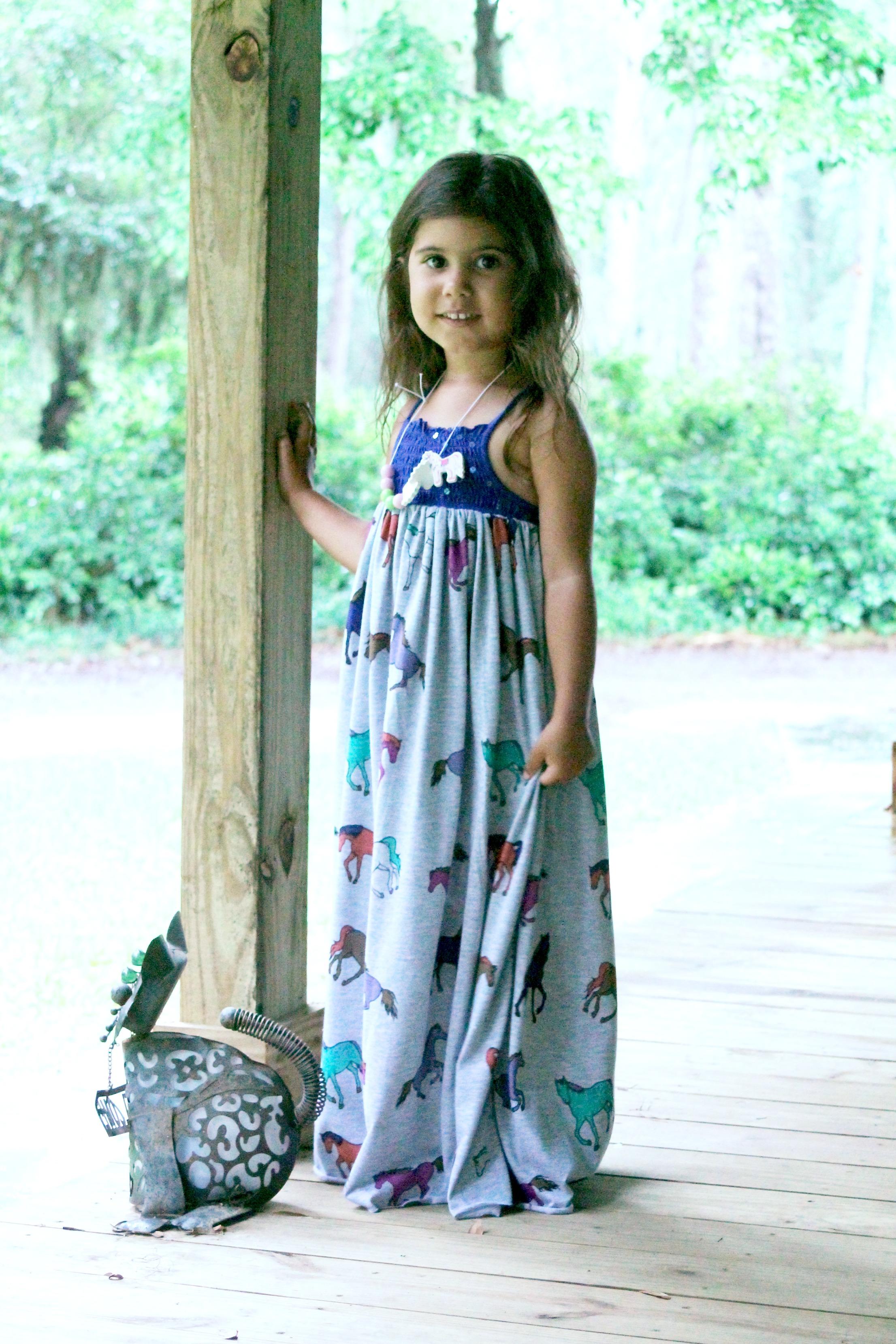 Girls cotton knit maxi dresses