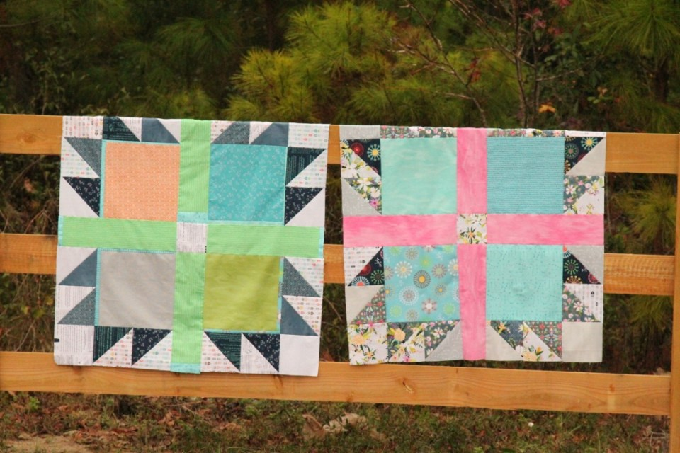 boy and girl bear paw quilts
