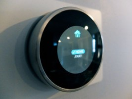 The Nest thermostat learns your schedule and allows remote access.