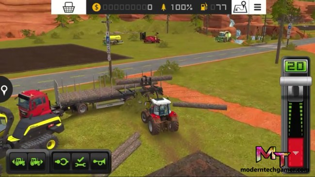 %farming simulator 18 gameplay screen shot