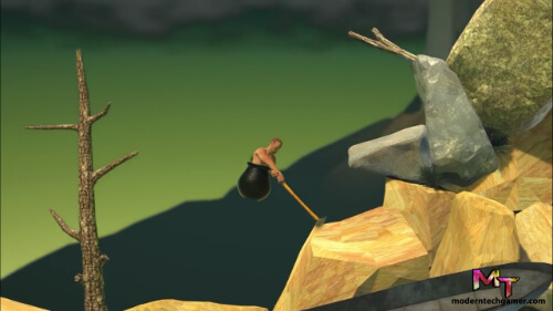 second screen shot of playing getting over it apk game