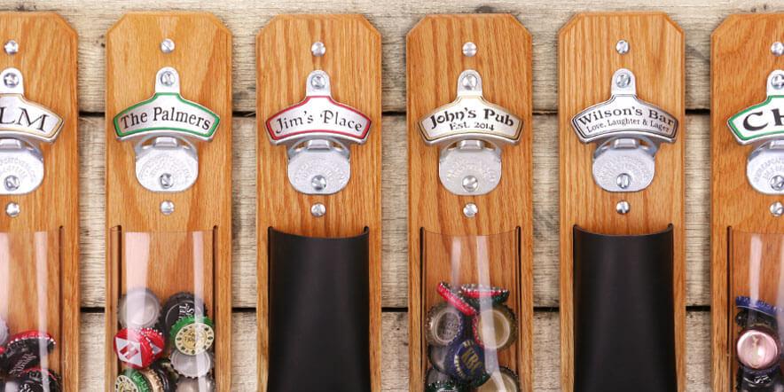capcatchers personalized bottle openers