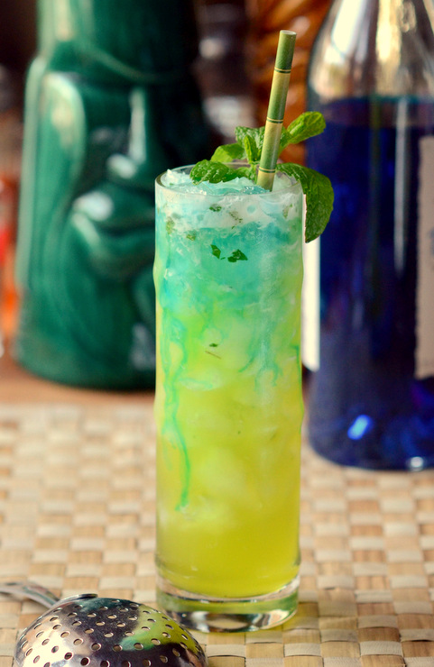 Blue and Green Tiki Drink