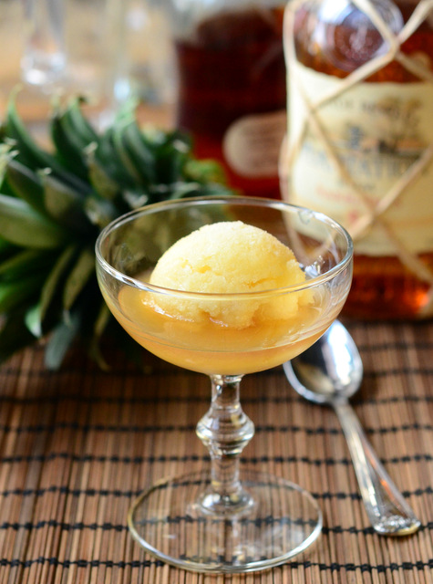"""Rum and Pineapple """"Affogato"""""""