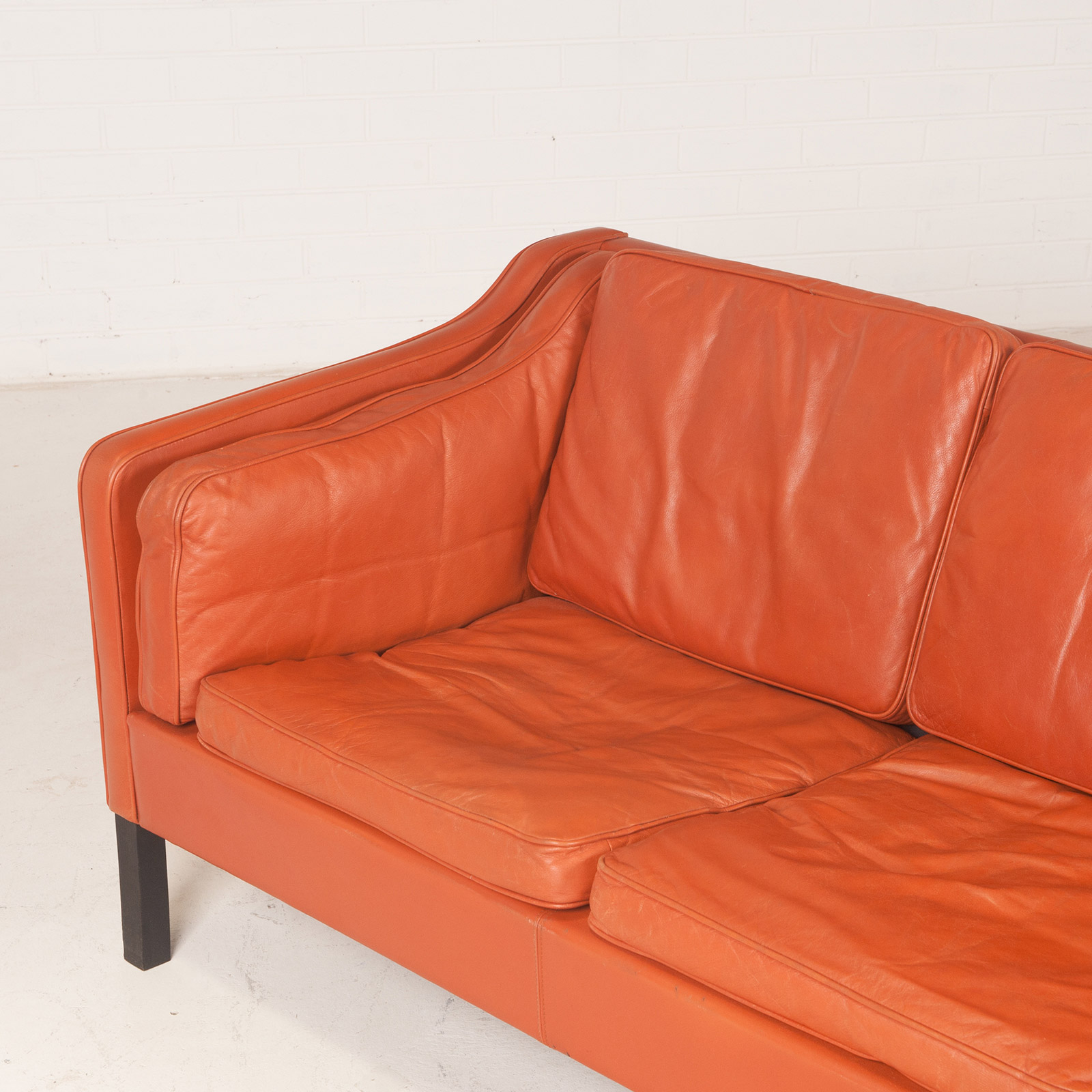 tangerine sofa on amazon 3 seat in leather with stained beech legs