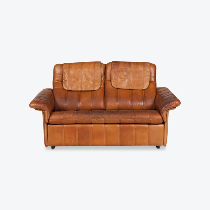 leather sofas online melbourne kid safe modern times 2 seat sofa by de sede in tan 1970s switzerland thumb jpg