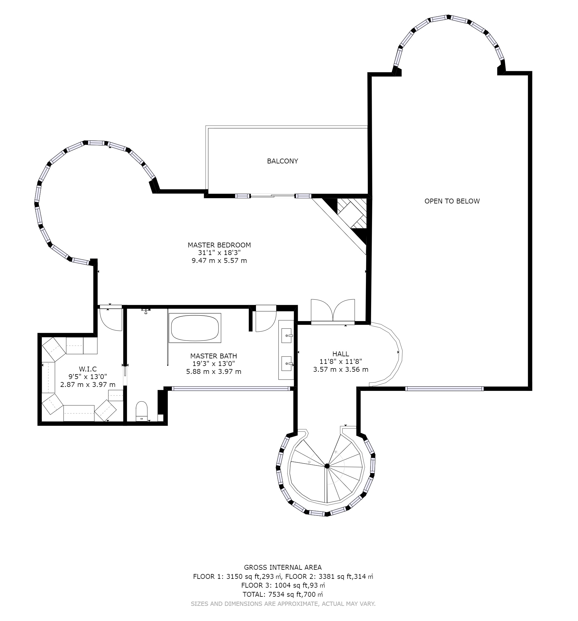 hight resolution of each individual floor delivered in png format as a separate file all floors together delivered in one pdf up to 10 000 square feet floor plan