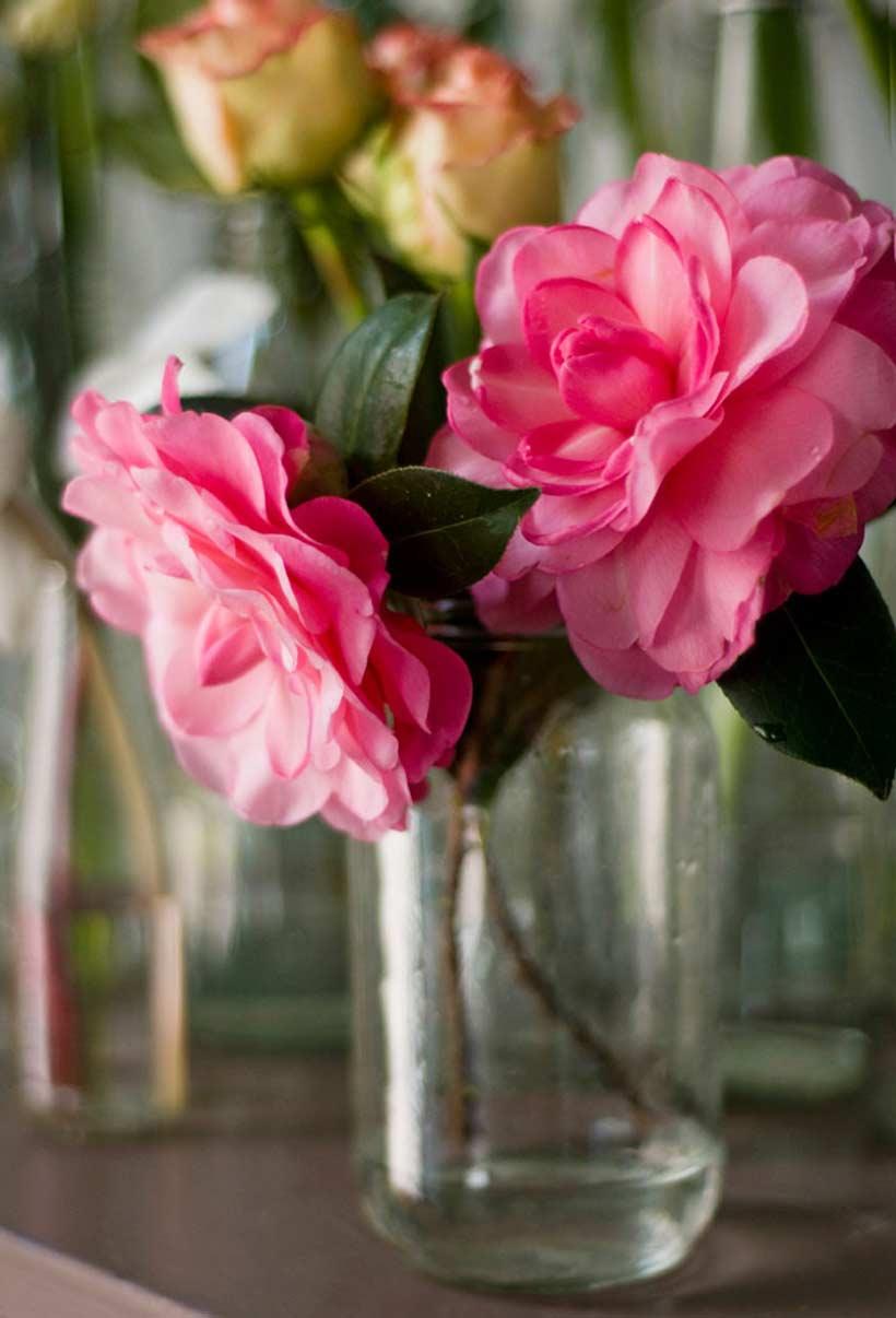 Flowers In Bottles Amp Jars DIY Wedding Modern Wedding