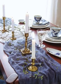 How To: Dip-dye An Indigo Wedding Table Runner - Modern ...