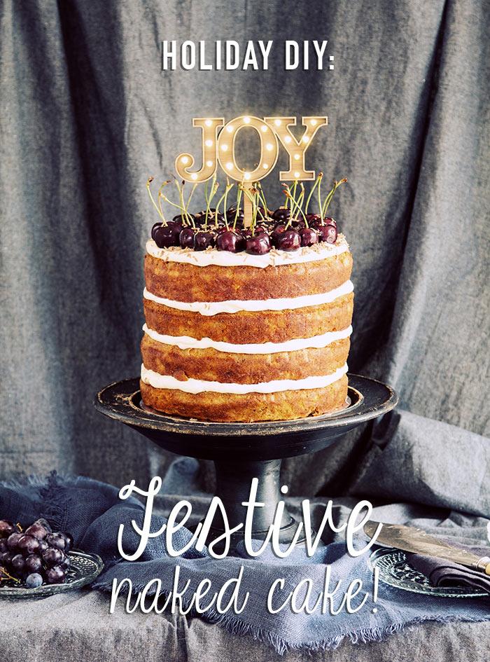 Christmas Naked Cake Recipe Modern Wedding