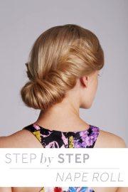 step nape roll hair tutorial