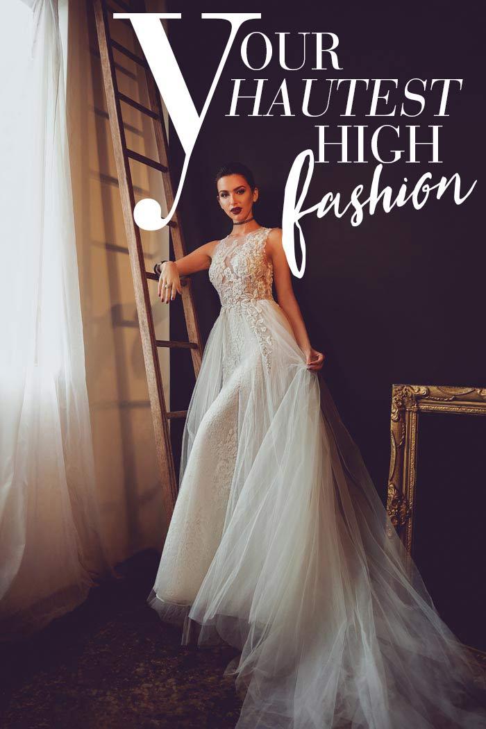 Haute High Fashion Wedding Dresses!