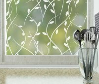 Vines Decorative Frosted Privacy Window Film