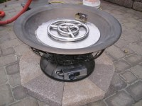 Clean burning outdoor firepits. Propane burner authority