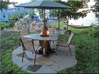 How to make a wood table into an outdoor fire pit with ...